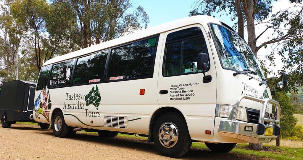 Tastes Of The Hunter Wine Tours - bus